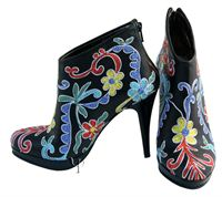 Picture of Leather Suzani Boots